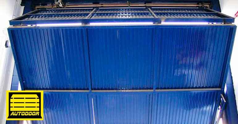 Puertas Basculantes Automáticas Autodoor azul